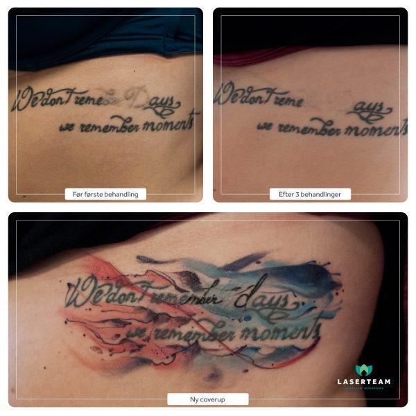 Tattoo: Coverup tekst
